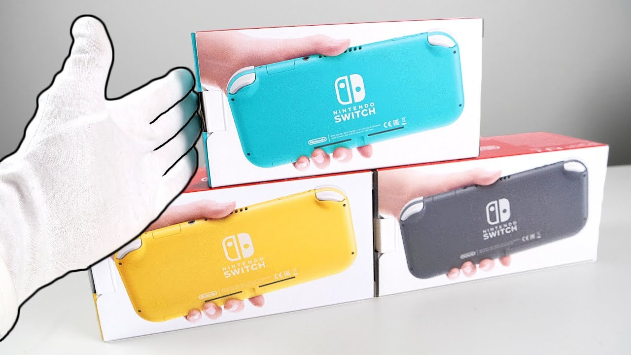 Nintendo Switch Lite Console Unboxing All Colors Zelda Minecraft Fortnite