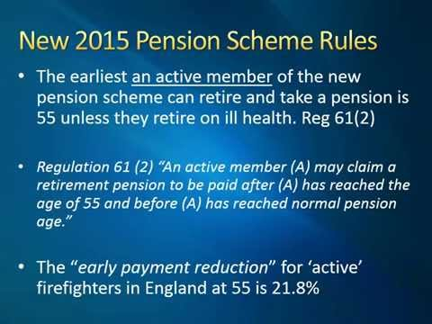 2015 Firefighters' Pension Scheme rules | A briefing for mem