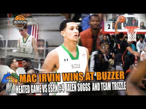Mac Irvin Wins At The Buzzer in Heated Battle Against ESPN #4 Jalen Suggs And Team Sizzle