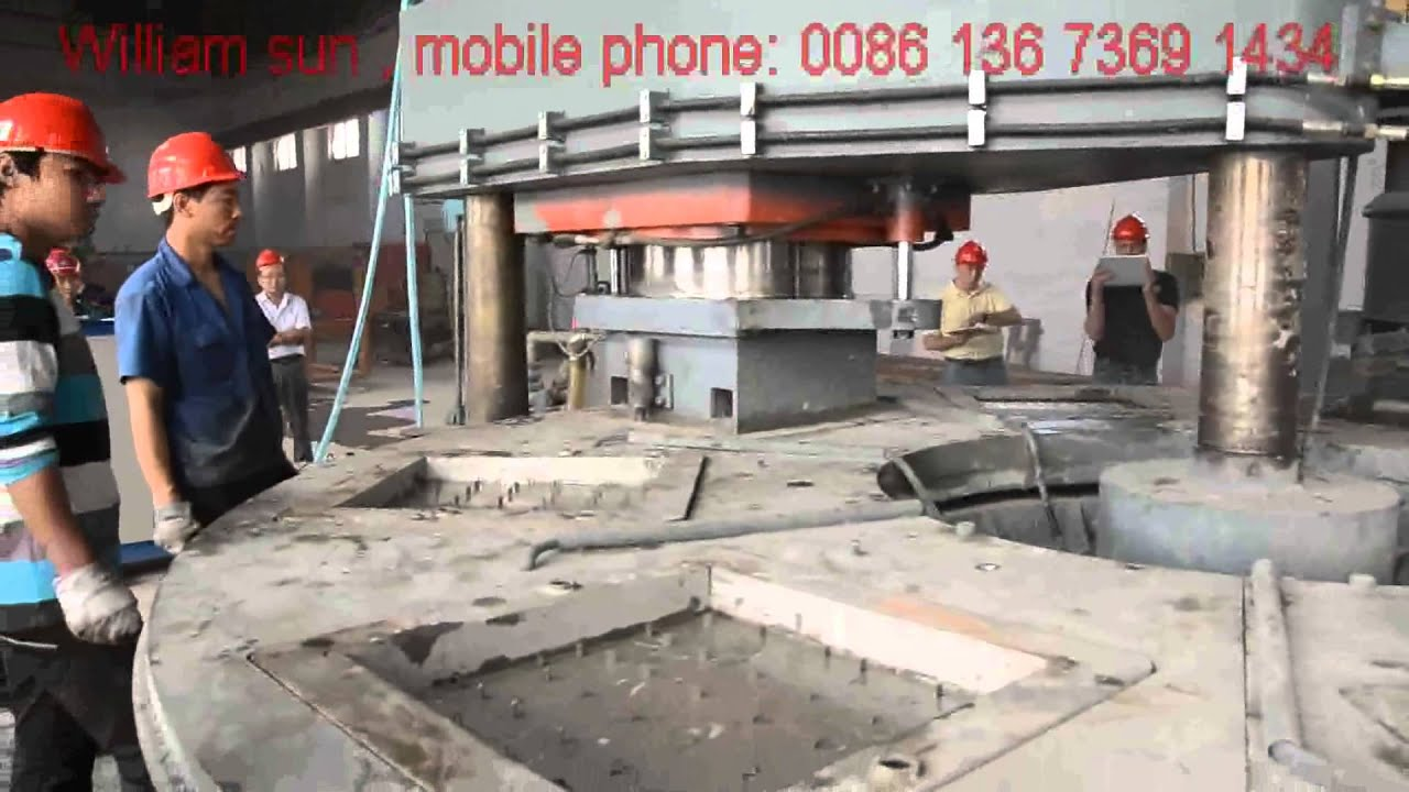 Jsr600 Rotary Tile Press For American Tate Access Floor Inc Youtube