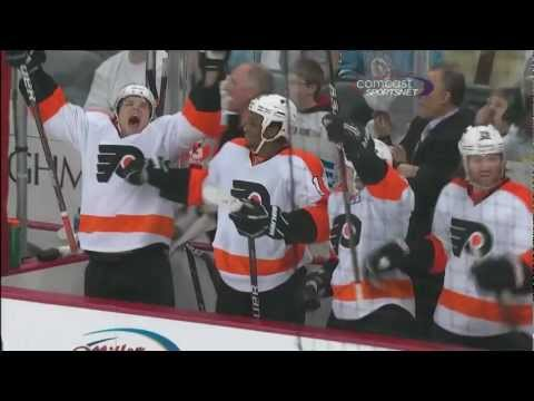 Couturier, Giroux Net Hat Tricks in Game 2 of the Stanley Cup Playoffs