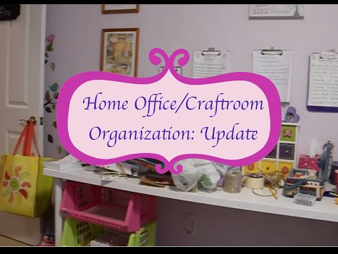 Organization: Update Home Office/Craftroom