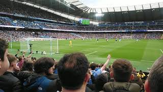 City v Fulham - City fans..... City win five in a row.......