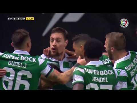 Goal | Golo Coates: Sp. Braga 1-(1) Sporting (Allianz Cup 18/19 1/2 final)