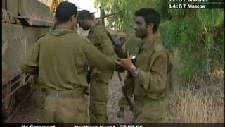 96[NO COMMENT] Israeli armor troops after action in Lebanon war 27.07.2006.