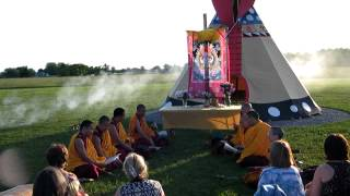 Tibetan Buddhist Chöd Ritual in front of Tipi