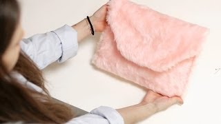 How To Make a Furry Fluffy Pink Clutch (DIY) Thumbnail