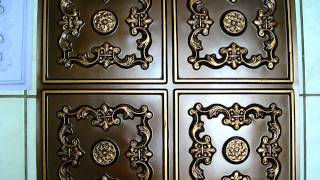 Faux Tin Ceiling Tiles - Antique Copper - DIY affordable lightweight easy to install