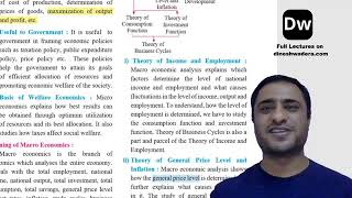 Lecture 6 - Introduction to Micro Economics and Macro Economics - Part 6 - 12th Commerce