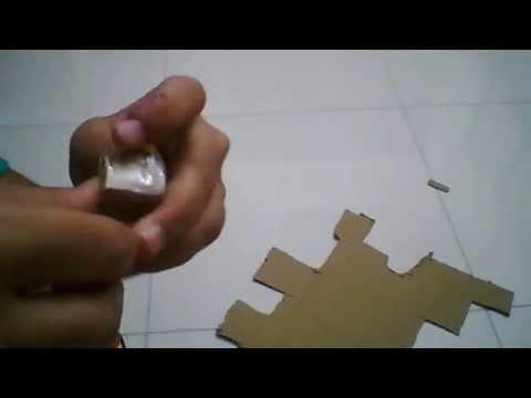 how to make a simple cardboard 2x2x1 rubiks cube