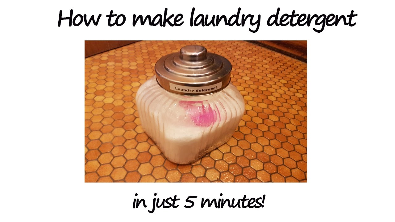 How to make Laundry Detergent in 5