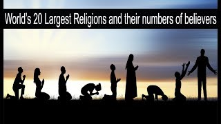 World's 20 Largest Religions and their  number of believers