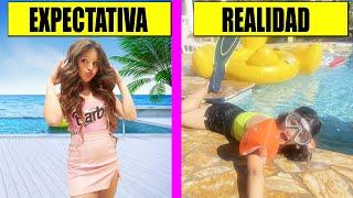 💦 PISCINA: EXPECTATIVA VS REALIDAD 💦 #shorts
