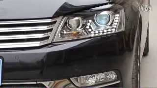 2012 2014 vw passat b7 headlight with led drl and hid projector