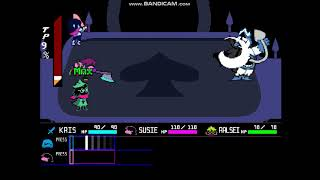 Deltarune Final Boss (Chaos King Fight) Attack End