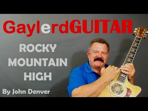 Rocky Mountain High - John Denver Guitar (Lesson How to Play Guitar on GAYLERD.com