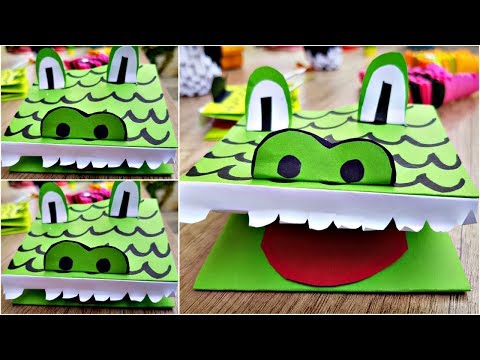 How to Make Paper Crocodile   Paper Craft for Kids