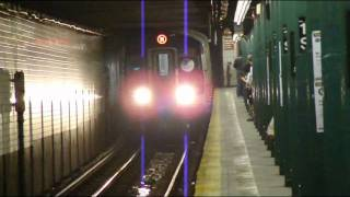 BMT 6th Avenue Line: 57th Street-6th Avenue bound R-160A-1 M local train @ 14th Street!