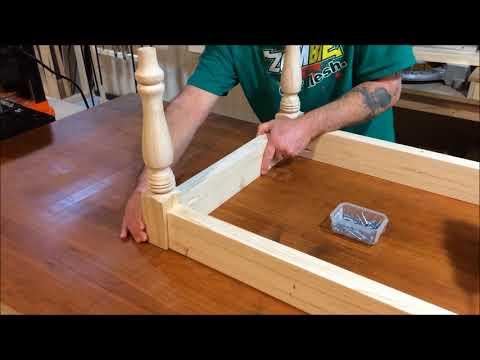 Easy DIY Rustic Farmhouse Coffee Table
