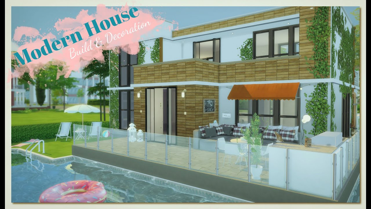 sims 4 modern house with pool build decoration part 1 3 sims 4 modern house with pool build decoration part 1 3 youtube