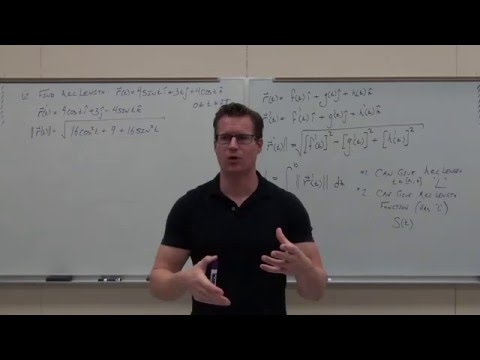 Calculus 3 Lecture 12.3:  Arc Length/Parameterization, TNB (Frenet-Serret) Intro