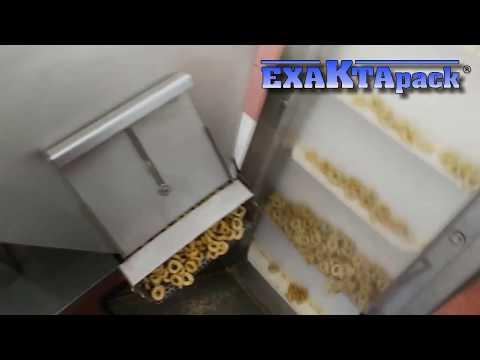 Linea para envasado de snacks italianos taralli en bolsas fondo plano doypack