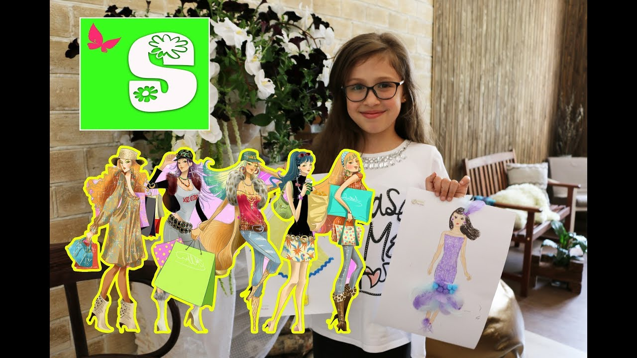 Fashion Design Dolls Design a Dress ФЭШН Дизайн для КУКЛА МОДЕЛЬ на бумаге for Teenage Girls