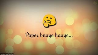 Exam Song funny whatsapp status Video | Exam Time WhatsApp status