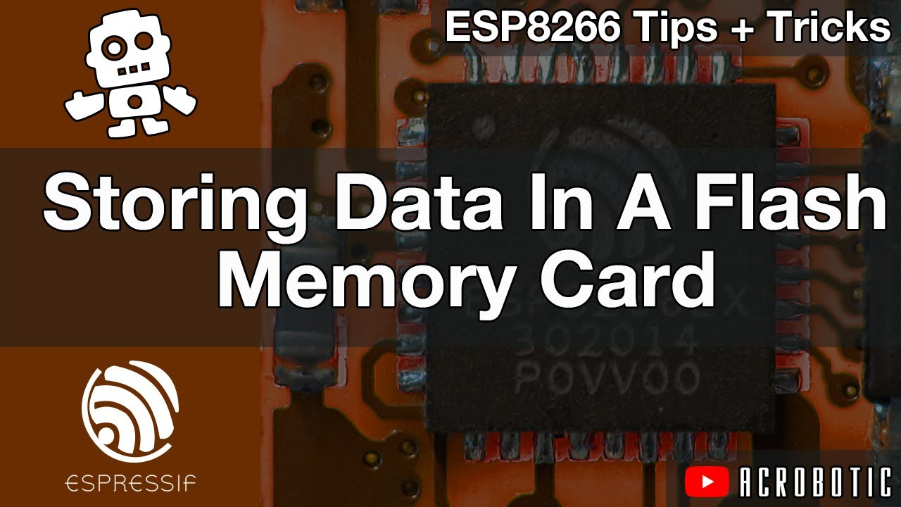 ESP8266 Storing Data In Flash Memory SD Card Using Arduino IDE (Mac OSX and  Windows)