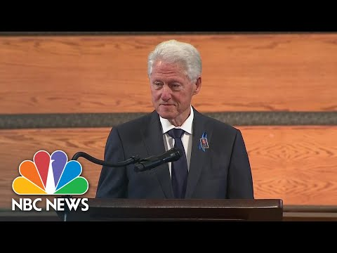 Clinton Honors John Lewis: 'He Thought That Open Hand Was Better Than The Clenched Fist' | NBC News