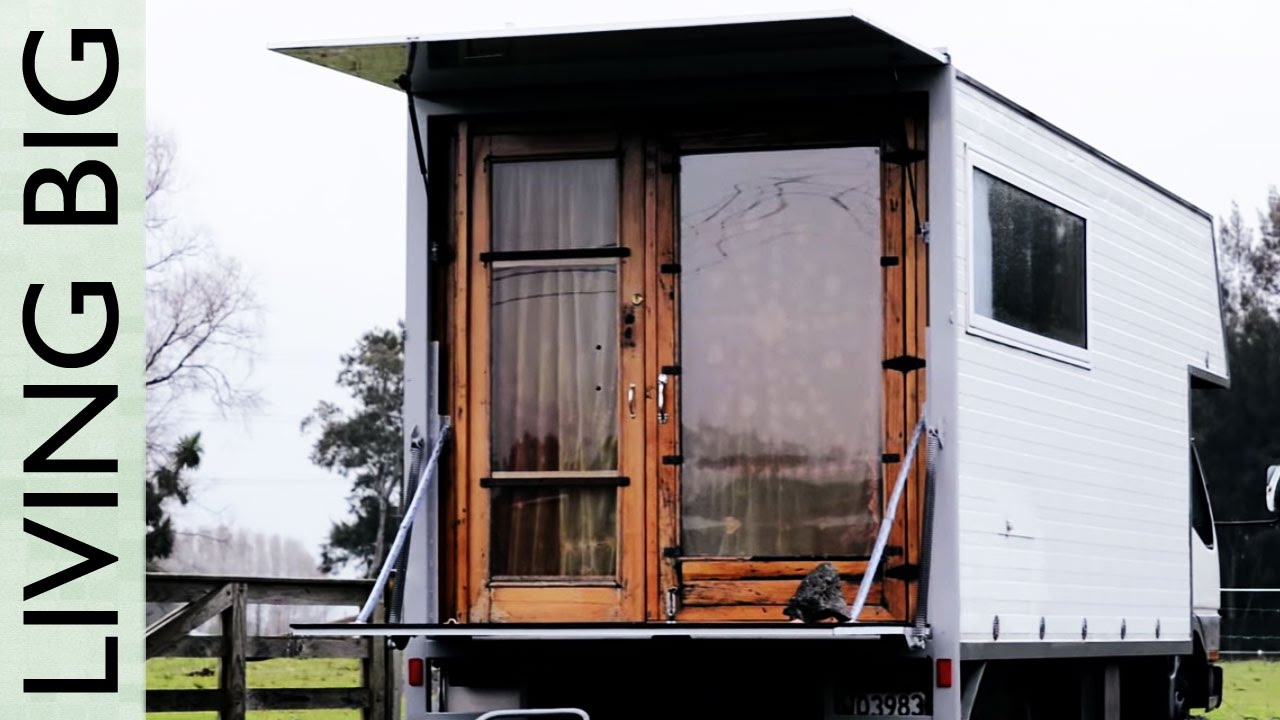 living simply in a wonderful tiny house truck youtube. Black Bedroom Furniture Sets. Home Design Ideas