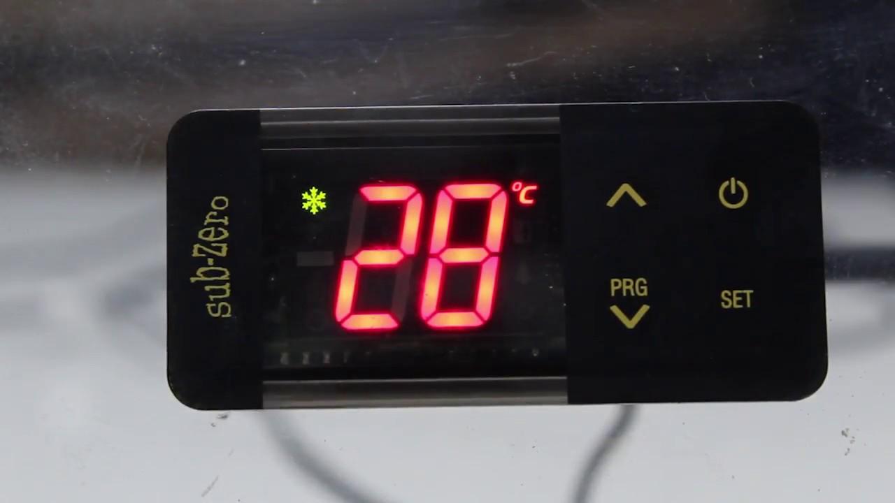 Subzero Temperature Controller Settings Youtube