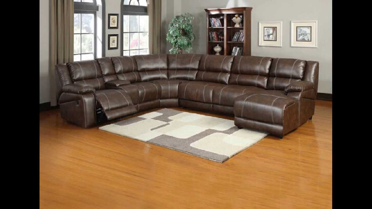 6 Pc Miller Saddle Brown Bonded Leather Sectional Sofa