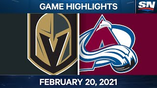 NHL Game Highlights | Golden Knights vs. Avalanche - Feb. 20, 2021