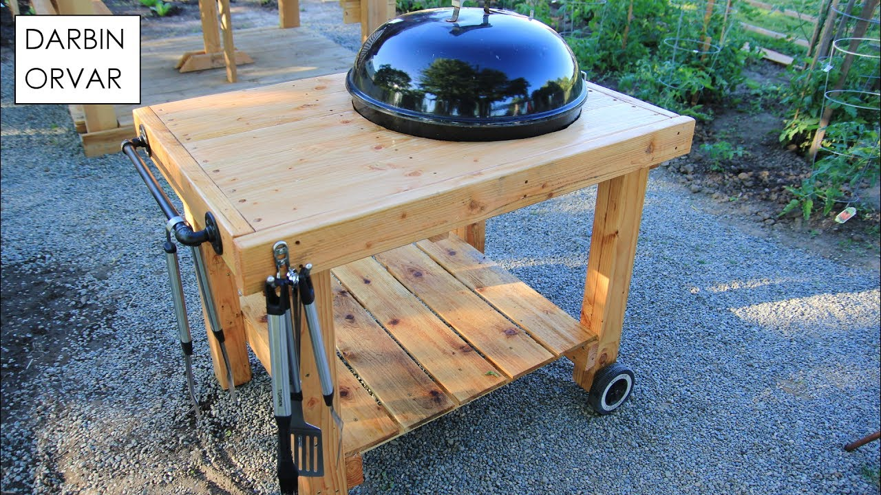 diy weber grill cart bbq station youtube. Black Bedroom Furniture Sets. Home Design Ideas