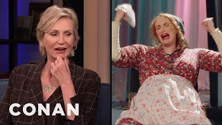 "Jane Lynch Went Unrecognized On ""Maisel Day"" - CONAN on TBS"