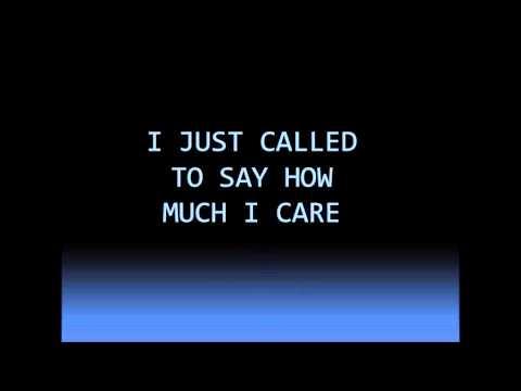 I Just Called To Say I Love You Stevie Wonder-lyrics-