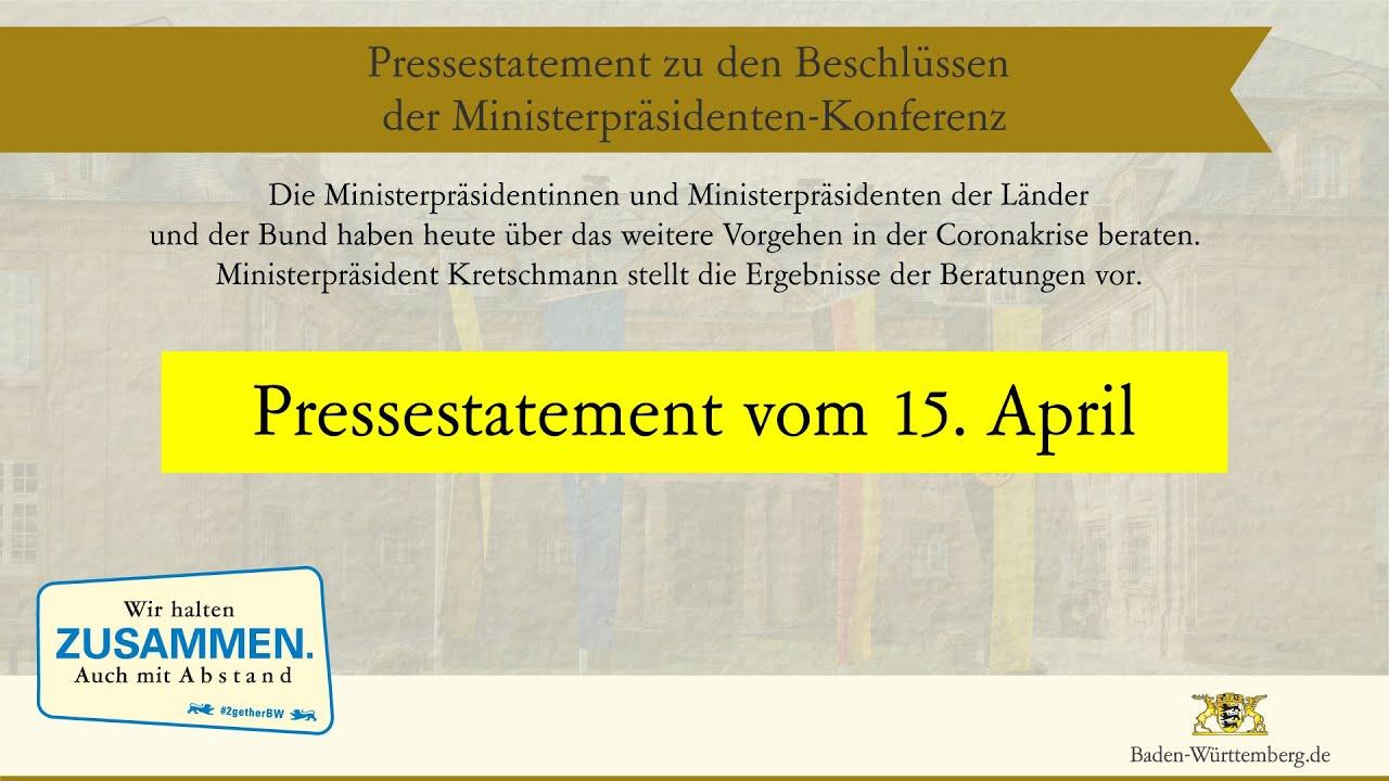 Vorsichtige Schritte Aus Dem Corona Lockdown Zusammenfassung Zitate Winfried Kretschmann Langsame Normalisierung Erst Ab 4 Mai