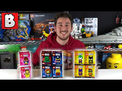 Every LEGO Brickheadz Figure Ever Made LIVE!!! Unbox & Review Series 1 + All Comic Con Exclusives!