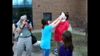 Pie in the face to Prof. Dara Wegman-Geedey