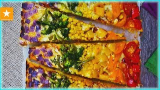 Пицца радуга на тонком тесте от Мармеладной Лисицы