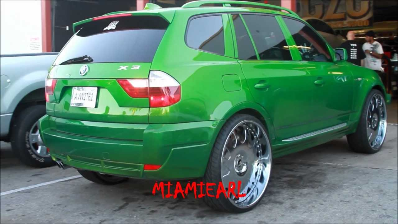 C2c Customs Slime Green Bmw X3 On 26 Quot Forgiato Grassetto