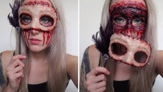 Masquerade Flesh Mask Tutorial ♡ Extremely Gory & Easy For Halloween