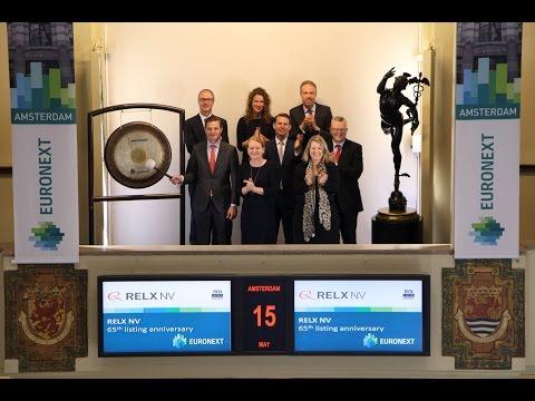 RELX viert 65 jaar notering met gongslag