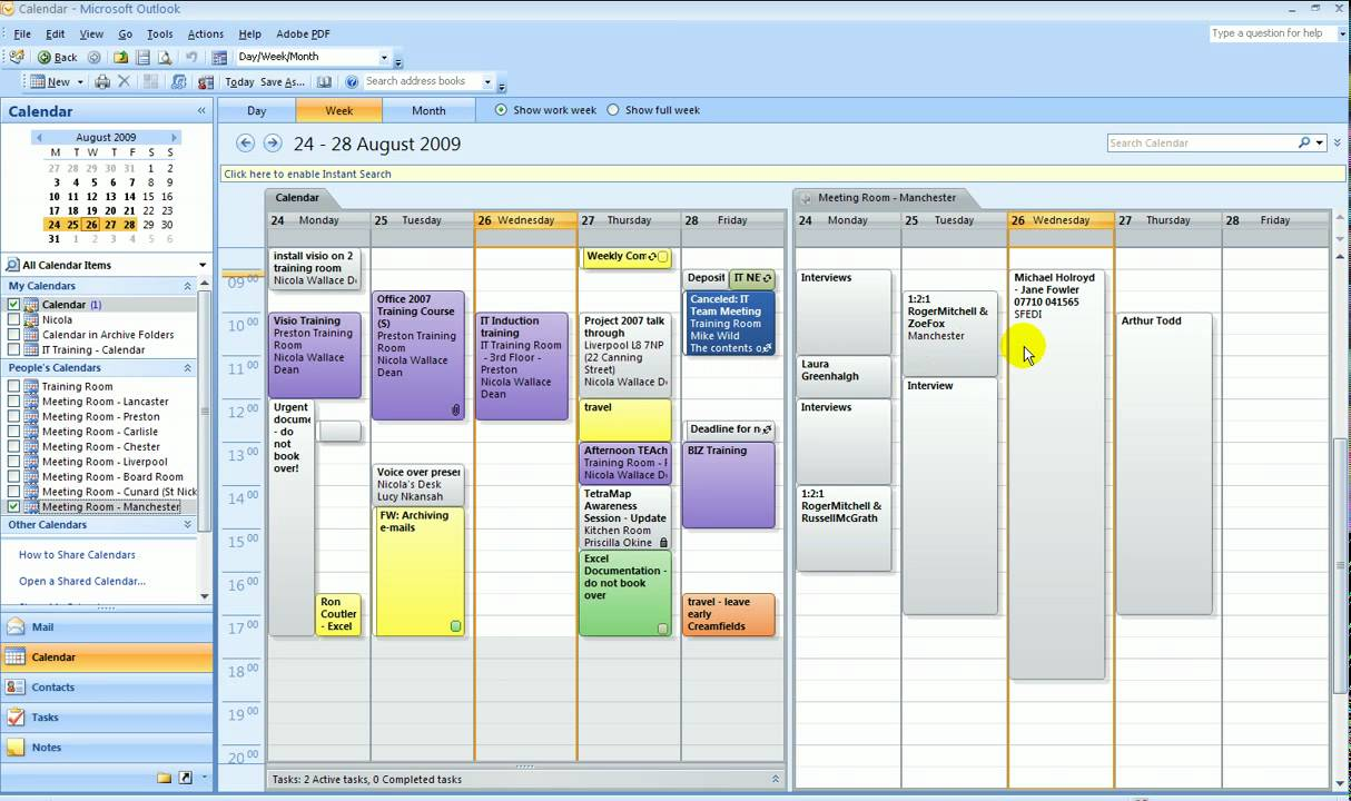 Meeting Room Booking System Outlook
