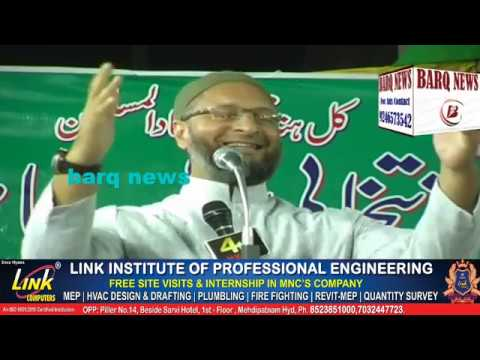 ASADUDDIN OWAISI ADDRESSED PUBLIC MEETING AT BABA NAGER ON 11th NOV 2018 ! COMPLETE SPEECH