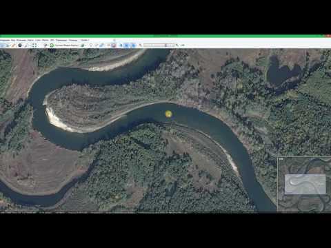 Ловля на жерлицы. Как выбрать место на реке. Учимся читать реку с помощью карты