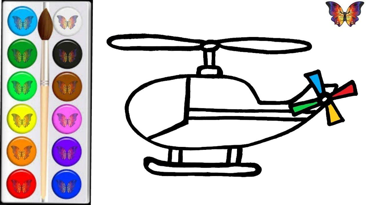 Как нарисовать ВЕРТОЛЕТ / мультик раскраска ВЕРТОЛЕТ для ...