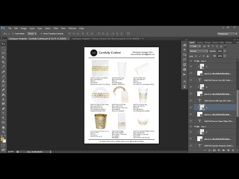 How to make a product catalogue in Photoshop, linesheet, lookbook for selling wholesale, retail etc