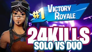 REALIZO UN 24 KILL SOLO VS DUO FORTNITE BATTLE ROYALE